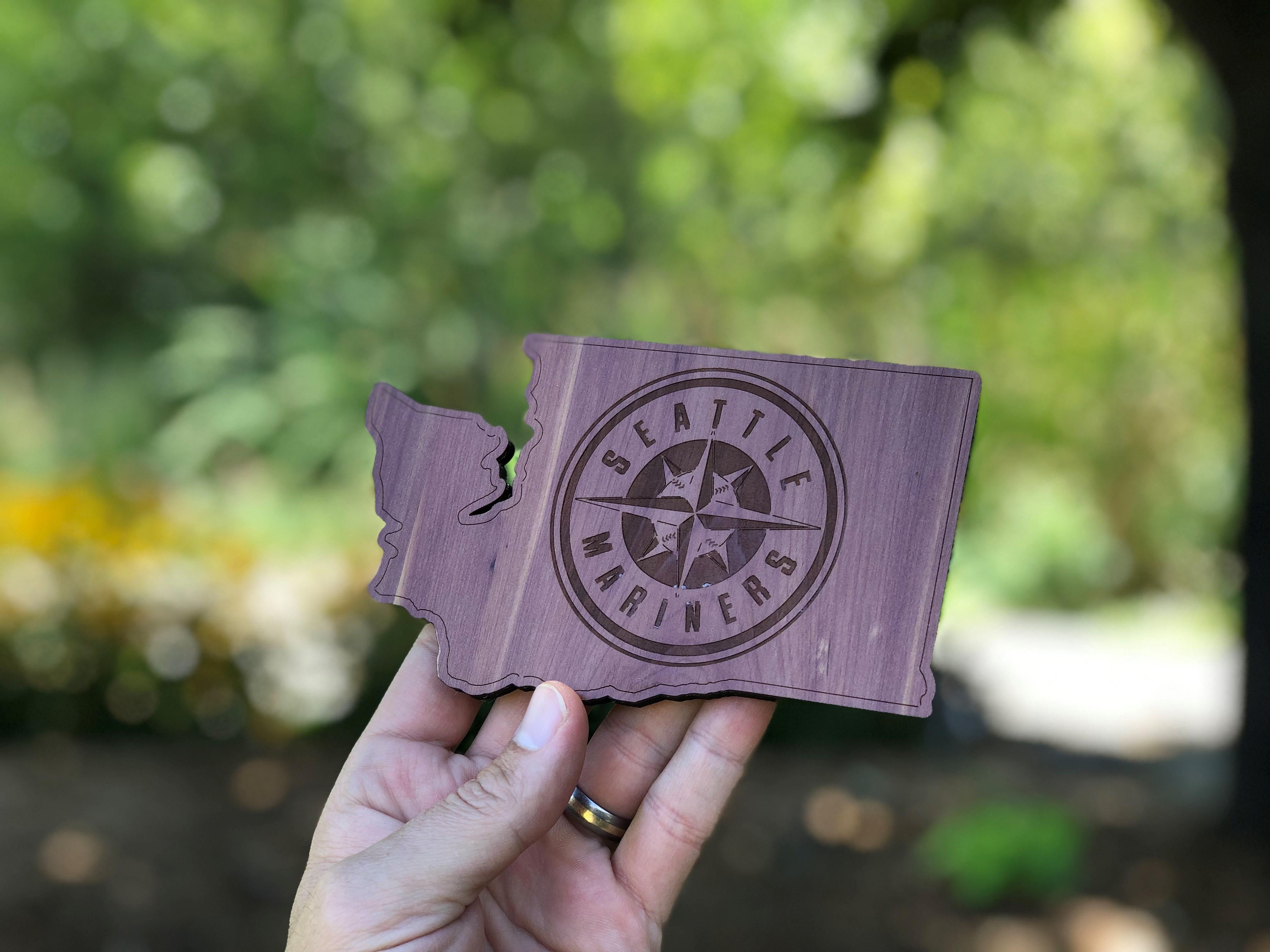 Custom Shape wood coaster in aromatic cedar