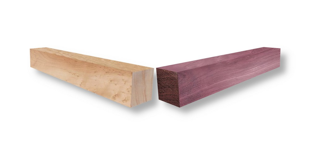 Introducing Purple Heart & Shimmering Maple, two gorgeous new wood species