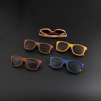 W-W3008 Series Recycled Skateboard Full Sunglasses Wooden Sunglasses