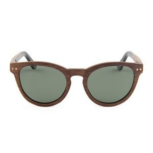W-6060 Series Full Wood Round Ebony, Zebra, Walnut Wood Wooden Sunglasses