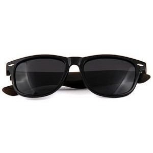 W-1501 Series Ebony, Zebra & Rose Wood Classic Wanderer Sunglasses Wooden Sunglasses