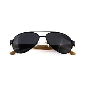 W-2040 Series Bamboo Wooden Classic Aviator Sunglasses